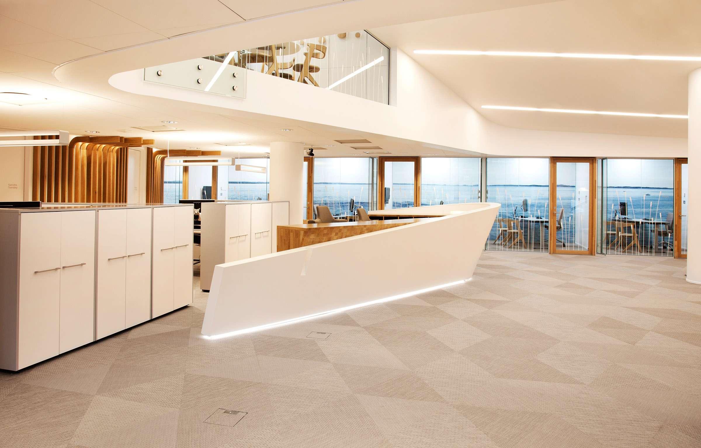 Bolon flooring in the office of Sparebank in Fredrikstad, Norway