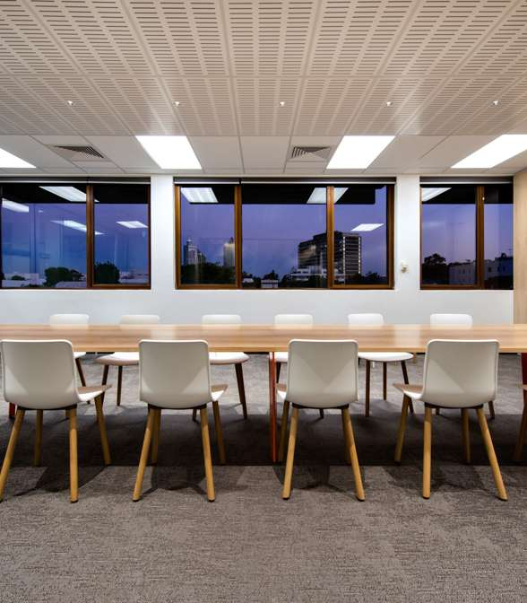 Bolon flooring in the office of AMP Financial Offices in Perth, Australia