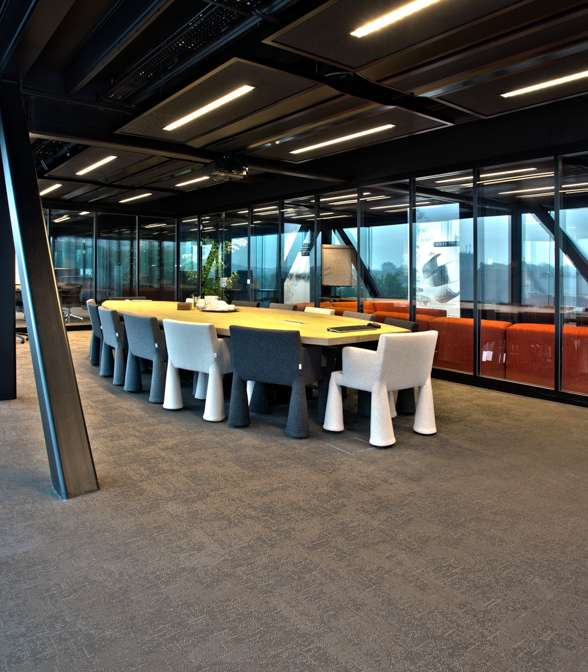 Bolon flooring in the office of Post Zuid in Apeldoorn, Netherlands
