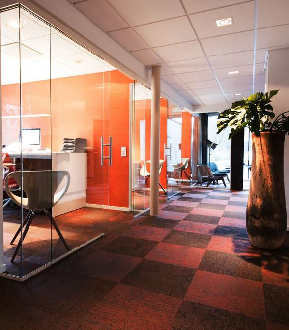 Bolon flooring in the office of Olofssons Bygg in Borås, Sweden