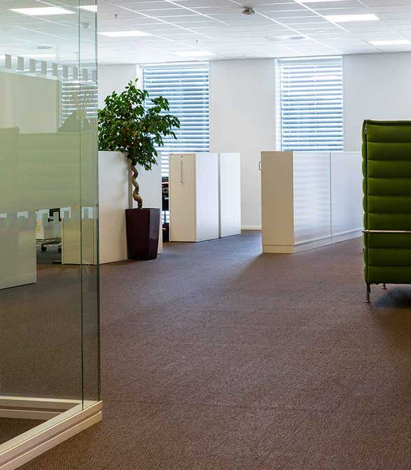 Bolon flooring in the office of NSB in Oslo, Norway