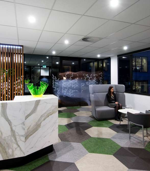 Bolon flooring in the office of Mahoney Lawyers in Brisbane, Australia