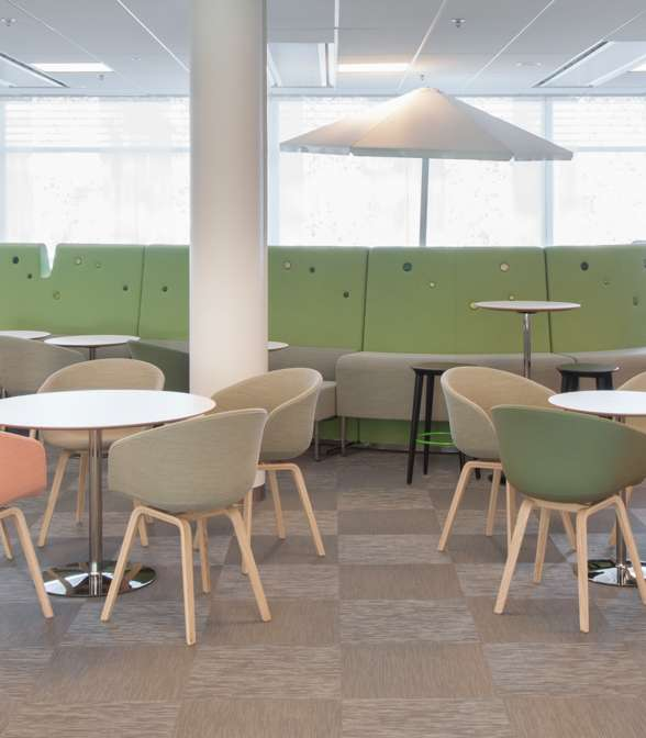 Bolon flooring in the office of Microsoft in Stockholm, Sweden