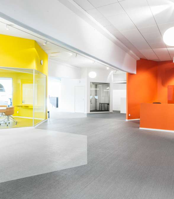 Bolon flooring in the office of Coolstuff in Malmö, Sweden
