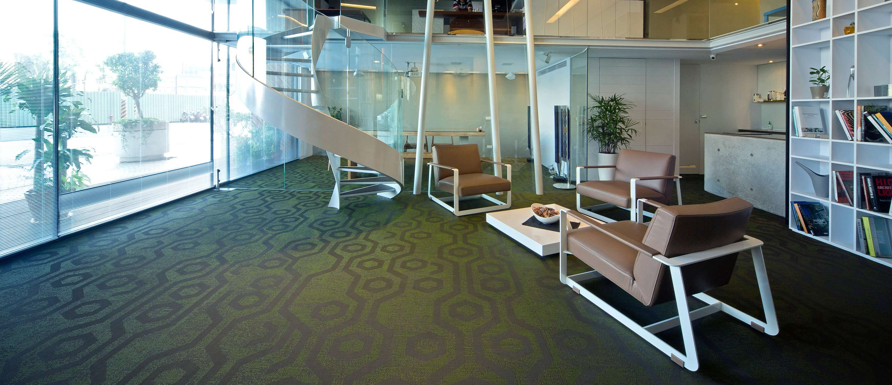 Bolon flooring in the office of Chuan Yu Interior Design in Zhongli, Taiwan