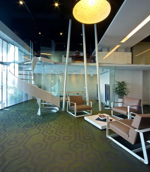 Bolon flooring in the office of Chuan Yu Interior Design in Zhongli, Taiwan