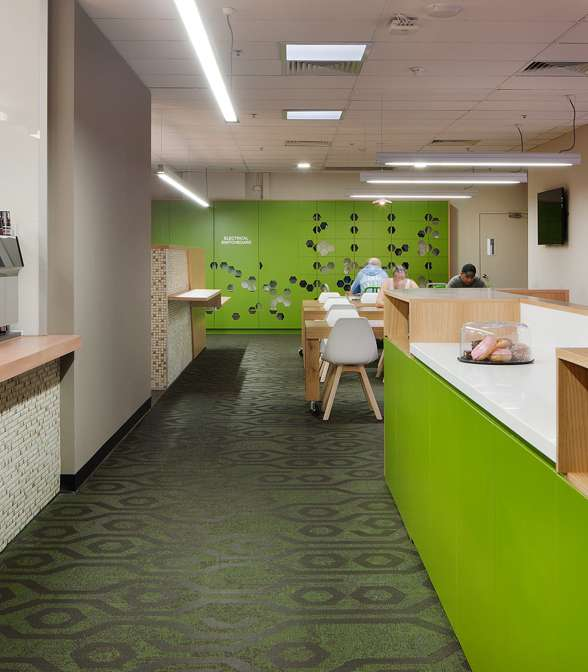 Bolon flooring in General Mills head quarters in Melbourne, Australia