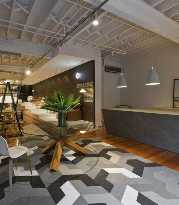Bolon flooring in Corporate Culture Showroom in Sydney, Australia