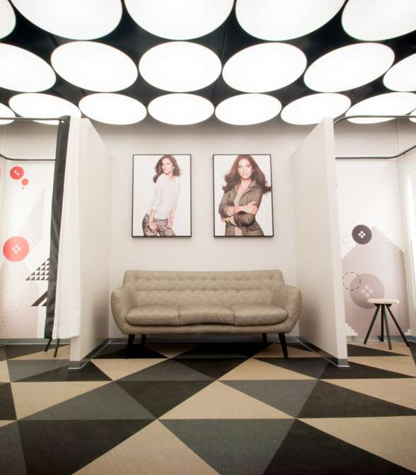 Bolon floor tiles in Lindex' stores