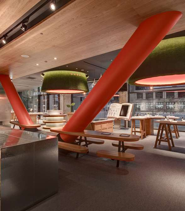 Bolon flooring in Taiwan Mobiles Co's Mobile Digital Life Hall