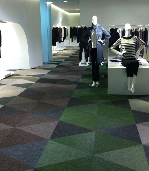 Bolon floor tiles in LG Fashion Store, Seoul