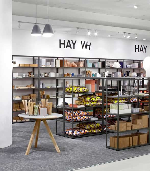 Bolon floor tiles in HAY's pop-up store at Selfridges, London