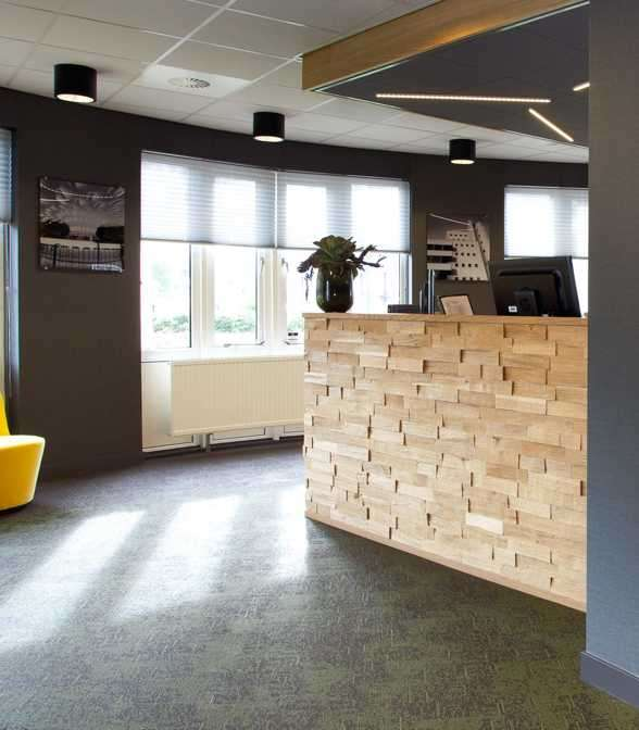 Bolon flooring in the office of Dura Vermeer in Rotterdam, Netherlands