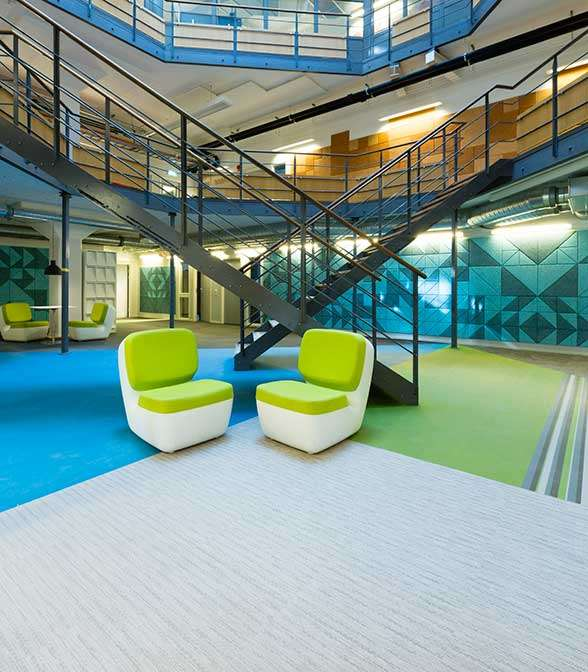 Bolon flooring at the Grillska College in Stockholm, Sweden