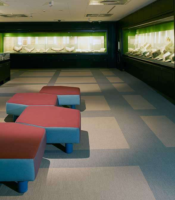 Bolon flooring in The British Library in London