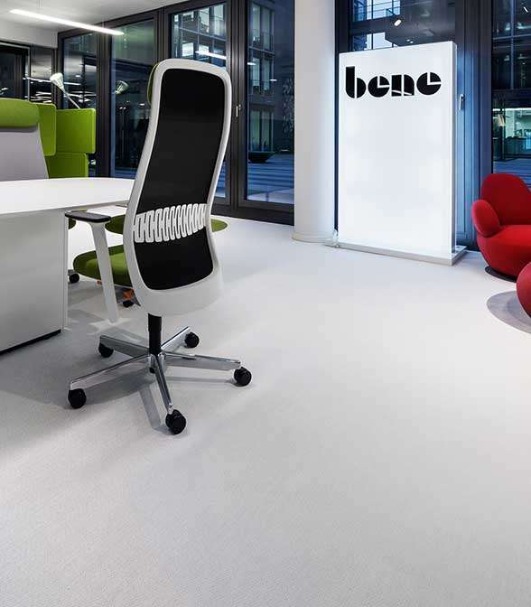 Bolon flooring in the office of Bene in Cologne, Germany