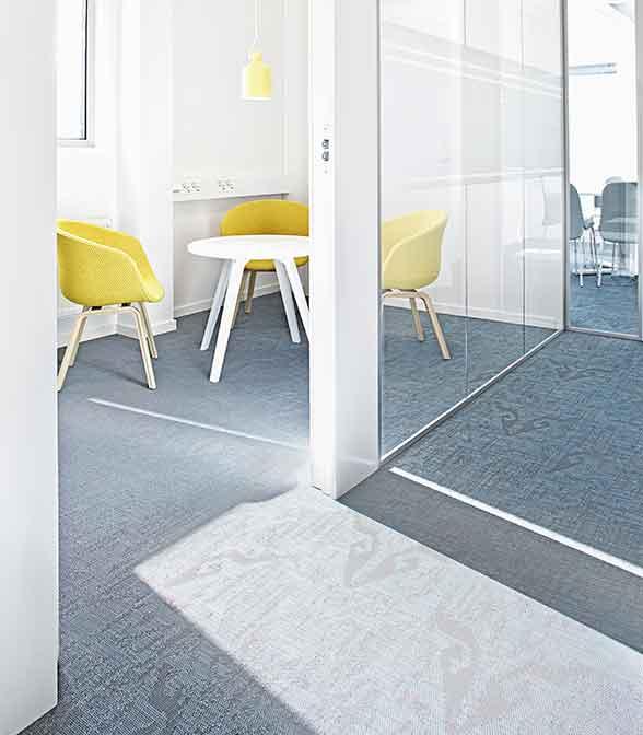 Bolon flooring in the office of BDO in Gothenburg, Sweden