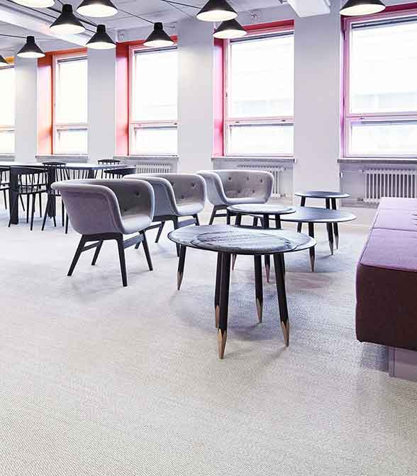 Bolon flooring in the office of Teosto in Helsinki, Finland