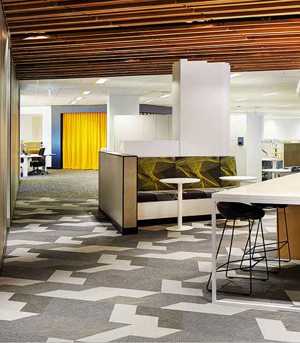 Bolon flooring in the Department of Transport in Perth, Australia