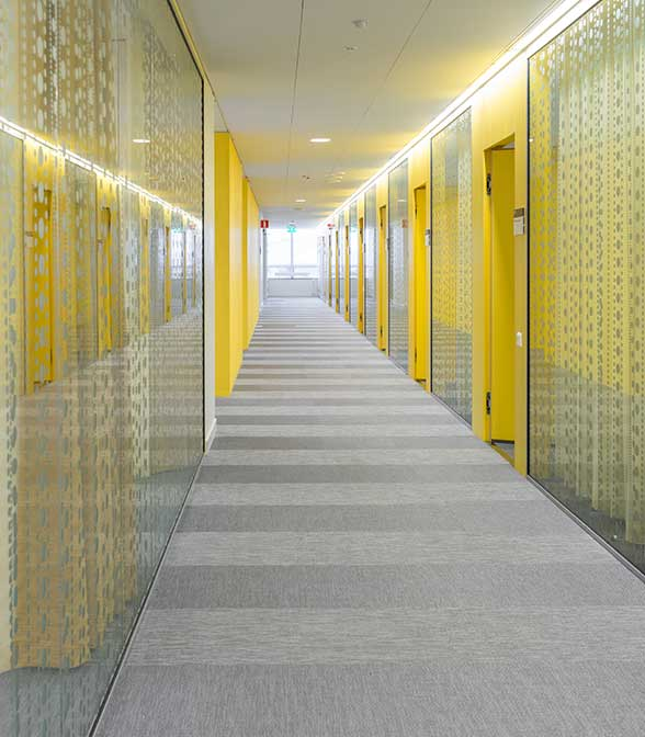 Bolon flooring in Skandiokliniken