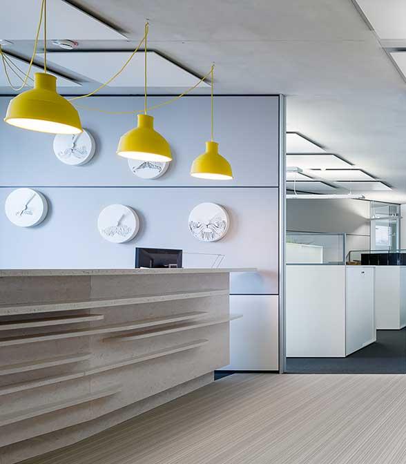 Bolon flooring in the office of AIFS Deutschland in Bonn, Germany