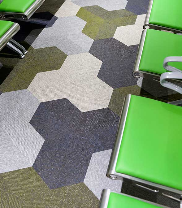 Bolon floor tiles in Lyell McEwin Hospital