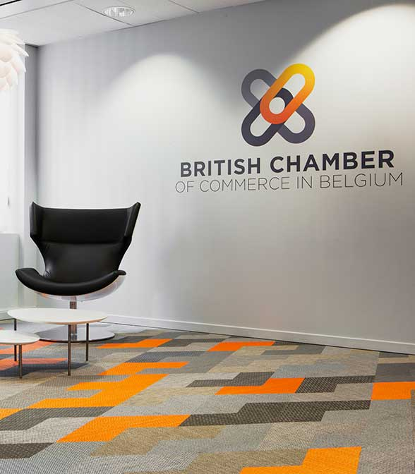 Bolon flooring in the office of the British Chamber of Commerce in Brussels, Belgium