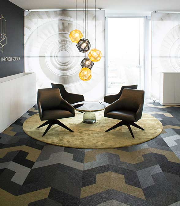 Bolon flooring in the office of Urban Science in Frankfurt, Germany