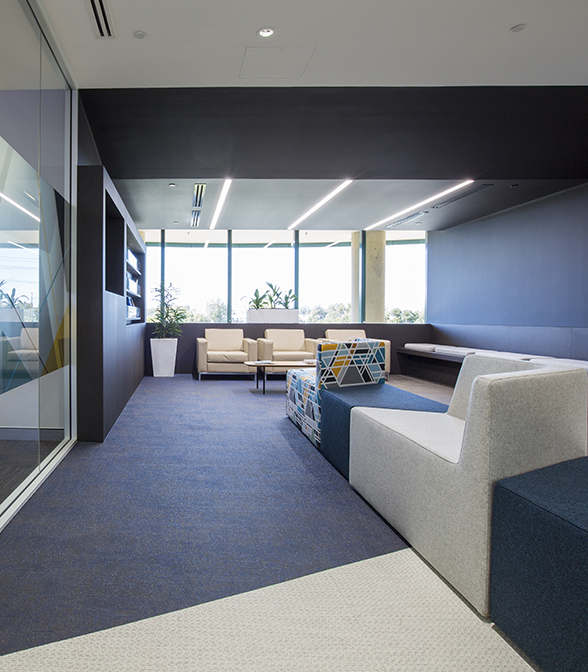 Bolon flooring in the office of the Department Of Commerce in Perth, Australia