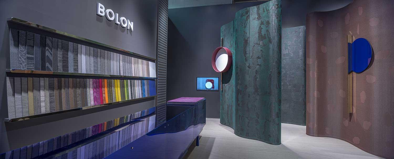 Bolon exhibition stand, designed by Doshi Levien, at Salone del Mobile 2016