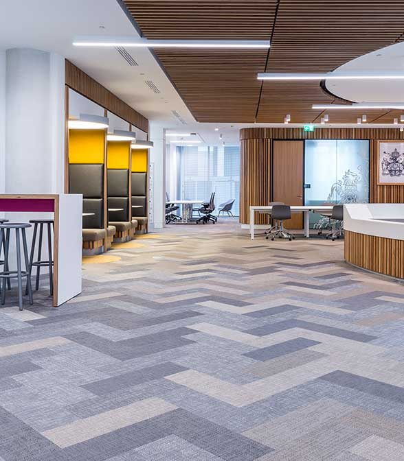 Bolon flooring in the office of CIMA in Lodon, UK