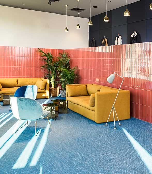 Bolon flooring in the office of Zalando in Berlin, Germany