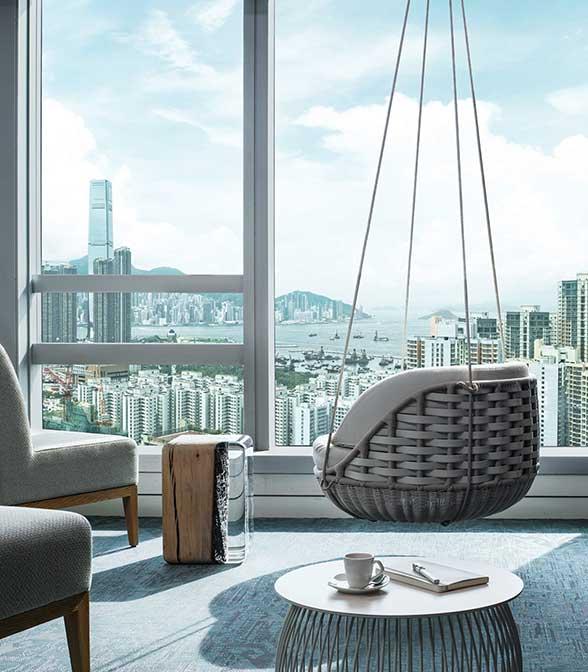 Bolon flooring in the Cordis Hotel in Hong Kong