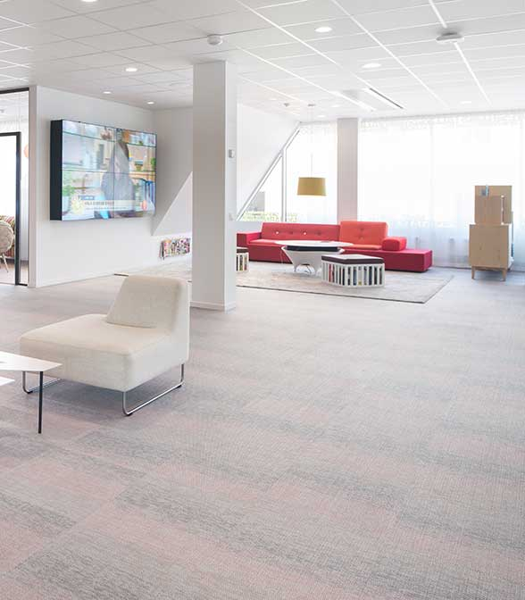 Bolon flooring in the office of Bonnier in Stockholm, Sweden