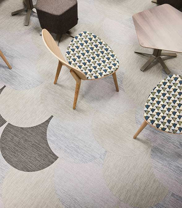 Bolon flooring in the office of Trollhättan Energi in Trollhättan, Sweden