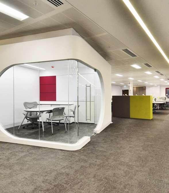 Bolon flooring in the office of Bwin in London, UK