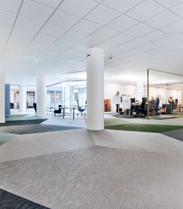 Bolon flooring in the office of Vasakronan in Uppsala, Sweden