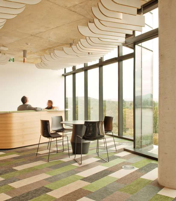 Bolon flooring in the office of Commonwealth Government in Canberra, Australia