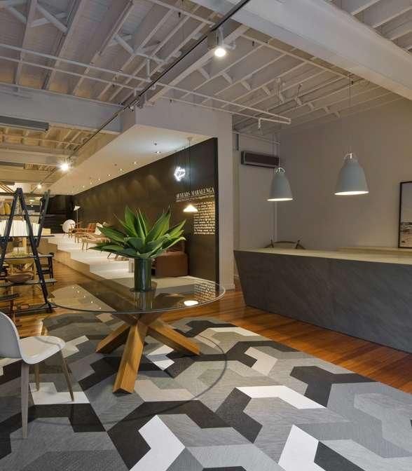 Bolon flooring in the office of Corporate Culture in Melbourne, Australia
