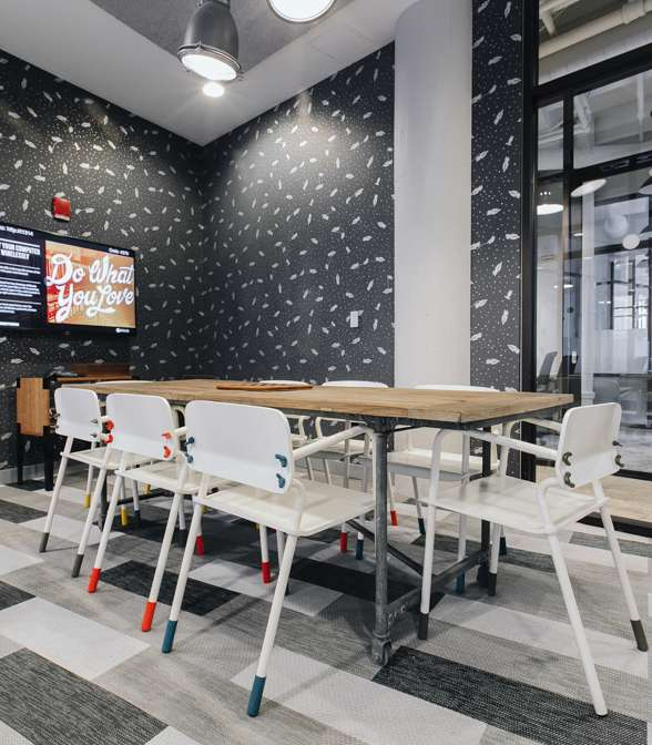 Bolon Flooring in the office of WeWork in Boston, USA