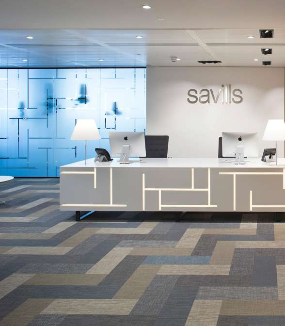 Bolon flooring in the office of Savills in London, UK