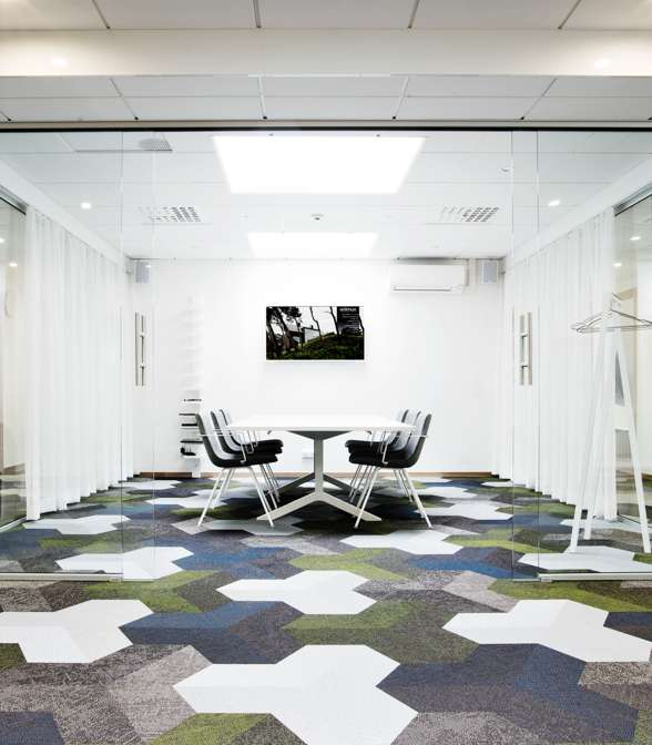 Bolon flooring in the office of Etikhus in Varberg, Sweden