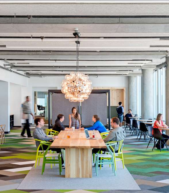 Bolon flooring in the office of Cisco Meraki in San Francisco, USA