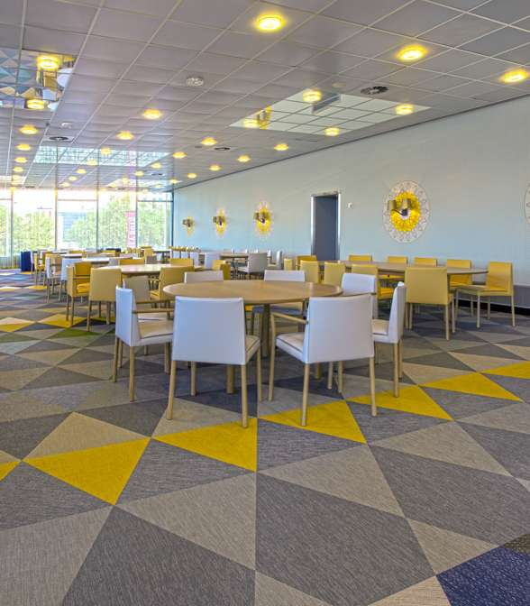 Bolon flooring in the restaurant Pieter Christiaan in Utrecht, Netherlands