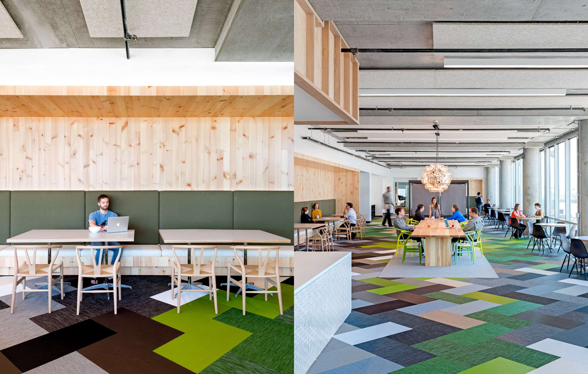 Bolon floor tiles in the office of Cisco Meraki in San Francisco, USA