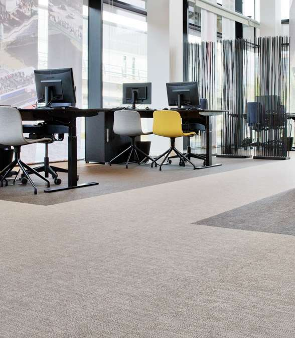 Bolon flooring in the office of Spies Travel Agency in Copenhagen, Denmark