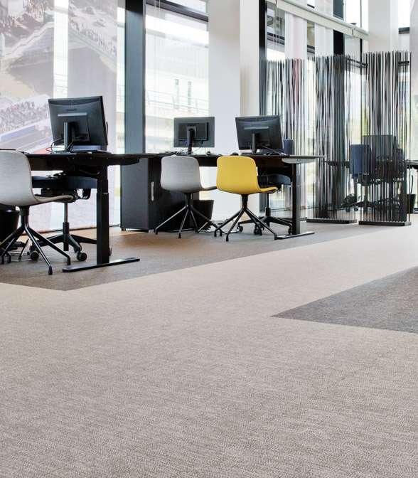 Bolon flooring in the office of Spies Travel Agency in Copenhagen, Denmark