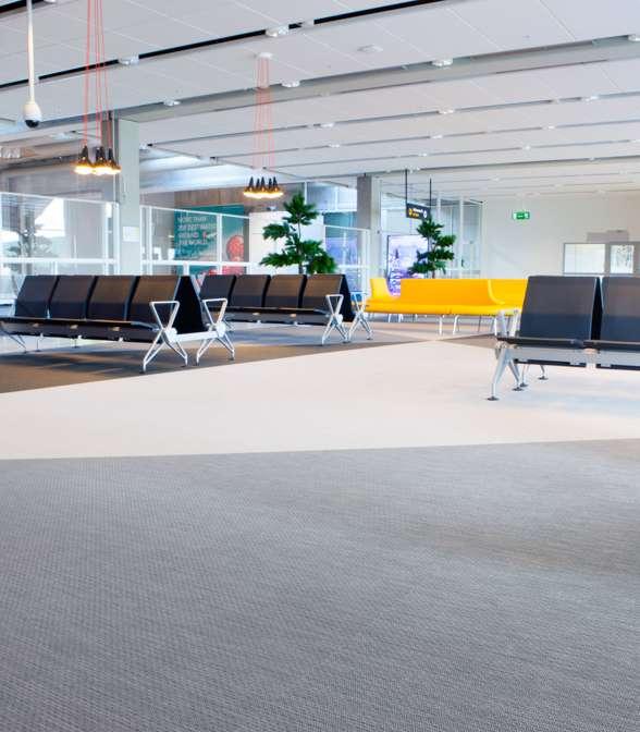 Bolon flooring in Landvetter Airport in Gothenburg, Sweden