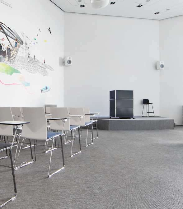 Bolon flooring in the office of communication agency Dentsu Aegis Network in Copenhagen, Denmark
