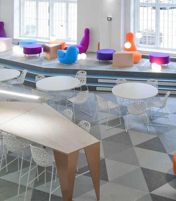 Bolon flooring in the office of Skype in Stockholm, Sweden